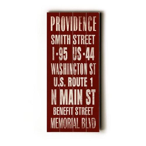 Artehouse LLC Providence Transit Textual Art Plaque