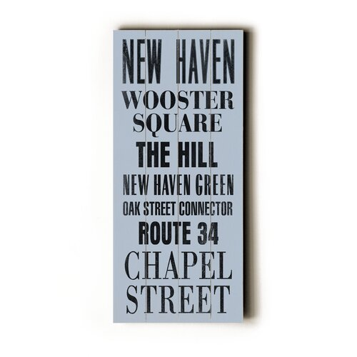 Artehouse LLC New Haven Transit Textual Art Plaque