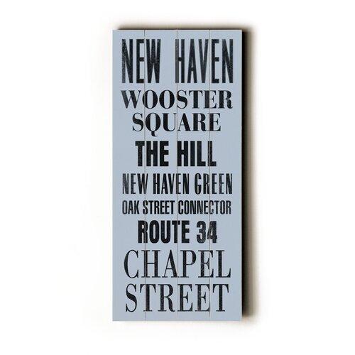 Artehouse LLC New Haven Transit Textual Art Plaque