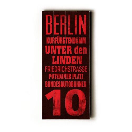 Artehouse LLC Berlin Transit Textual Art Plaque