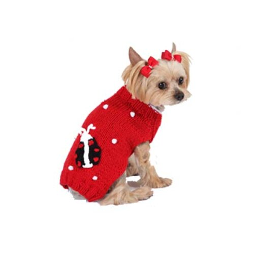 Max's Closet Bobble Lady Bug Dog Sweater