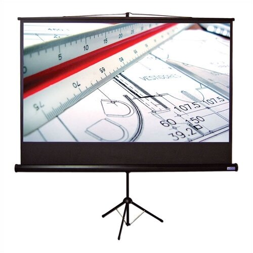 "Vutec Matte White 110"" Diagonal Portable Projection Screen"