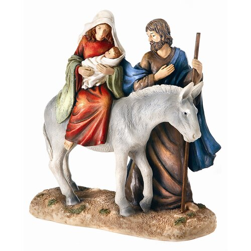 Regency International Holy Family on Donkey Figurine