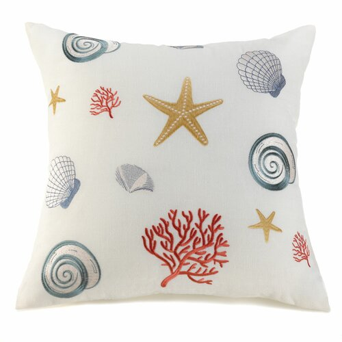 Waterfront Shells Decorative Pillow