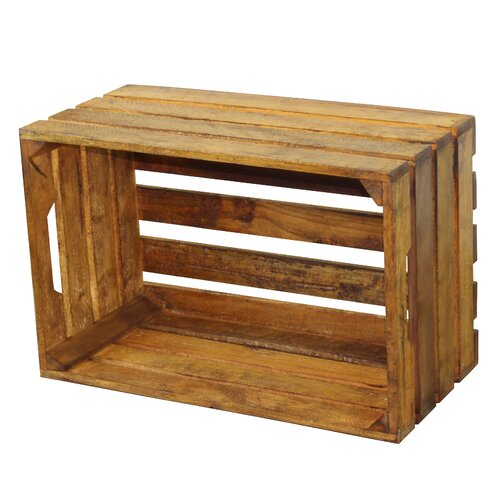 Quickway imports stackable antique style wooden crates decorative shelving reviews wayfair - Decorative wooden crates ...