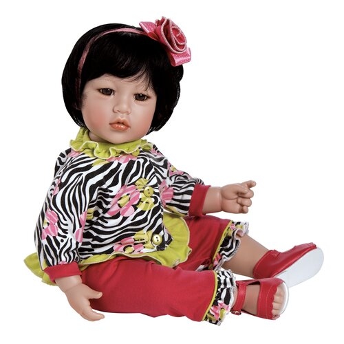 "Charisma Dolls Adora ""Zebra Rose"" Doll with Black Hair / Brown Eyes"