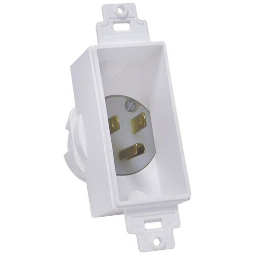 Midlite Single Gang Decor Recessed Power Inlet