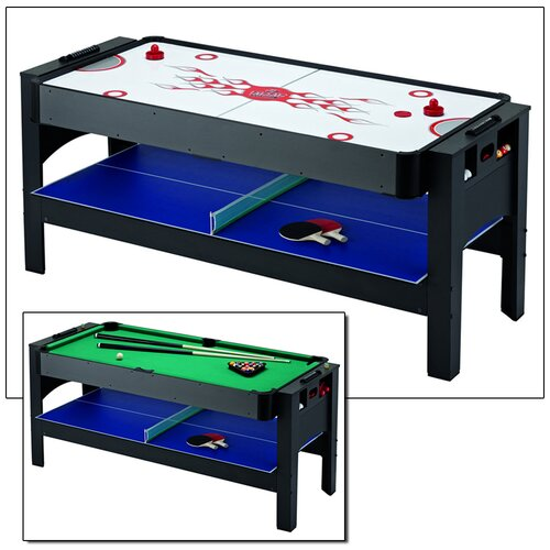Triple Threat 6' 3-IN-1 Flip Table & Accessories Table Tennis Table