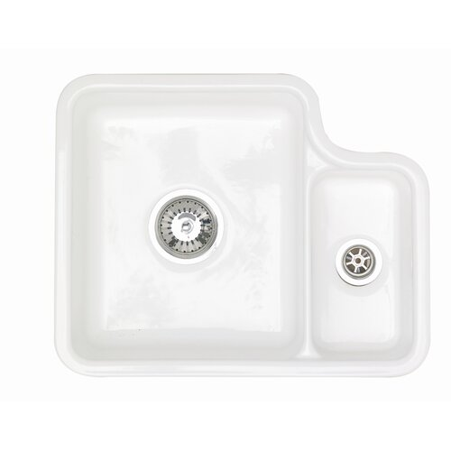 Astracast® Lincoln 1.5 Bowl Undermount Sink in Gloss White