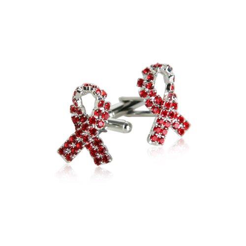 Aids Awareness Cufflinks in Silver