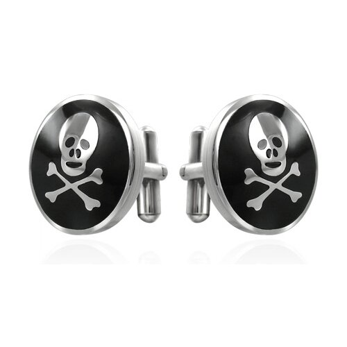 Cuff-Daddy Skull Cufflinks in Black