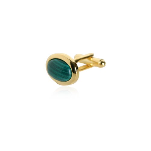 Cuff-Daddy Malachite Gold Cufflinks