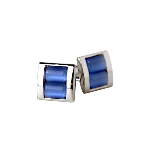 Stacked Cufflinks in Blue