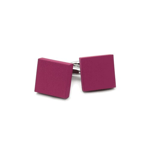 Cuff-Daddy Square Cufflinks in Pink Fuchsia