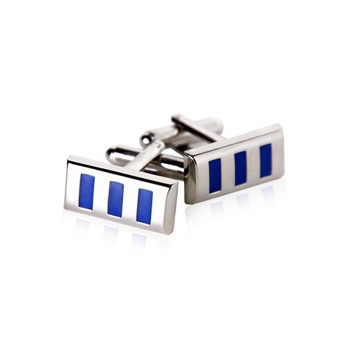 Vertical Cufflinks in Blue