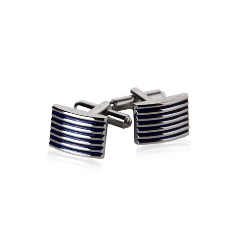 Ribbed Cufflinks in Blues