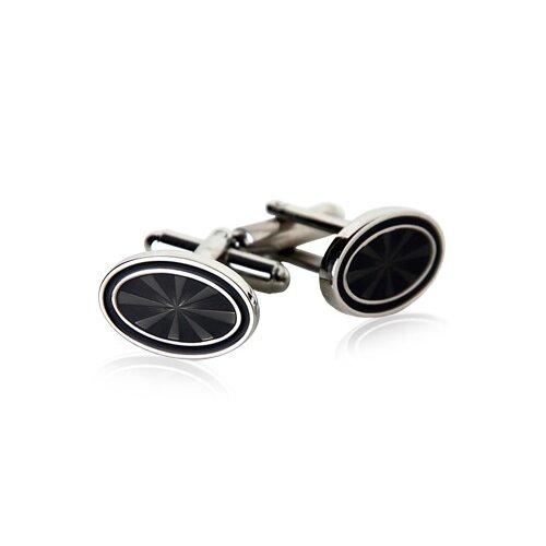 Cuff-Daddy Oval Cufflinks in Black