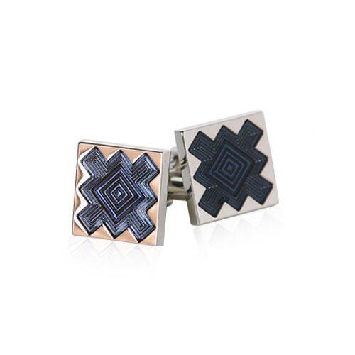 Starbursts Cufflinks in Blue