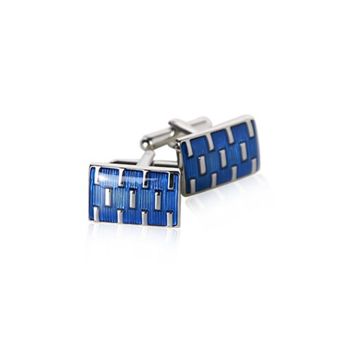 Galvanized Cufflinks in Blue