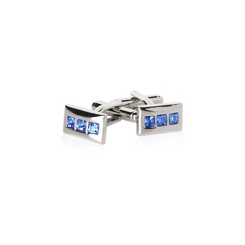 Cuff-Daddy Linear Cufflinks in Blue
