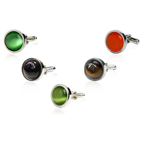 Working Man Fiber Optic Silver Cufflinks (Set of 5)