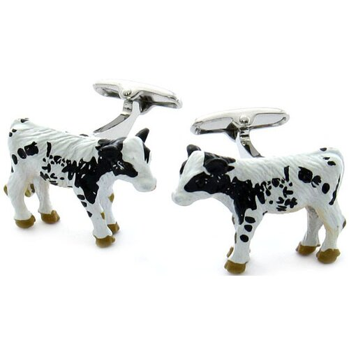Swarovski Crystal Cow Cufflinks
