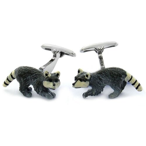 Swarovski Crystal Raccoon Cufflinks