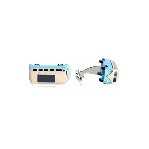 Camper Bus Cufflinks in Blue