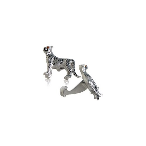 Cheetah Cufflinks with Swarovski Eyes (Set of 2)