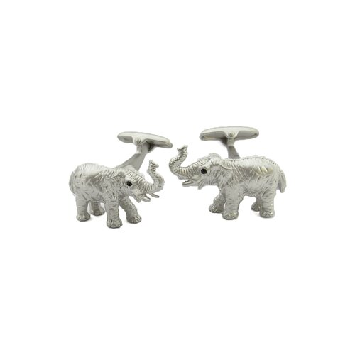 Safari Cufflinks Elephant Cufflinks in Silver