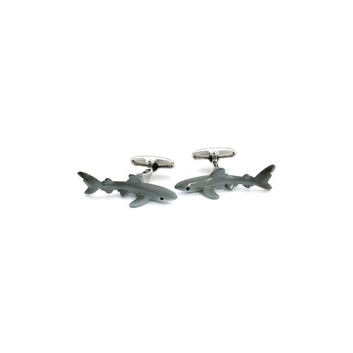 Safari Cufflinks Hand-Painted Shark Cufflinks