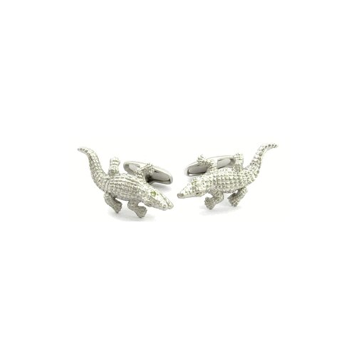 Safari Cufflinks Silver Alligator Cufflinks
