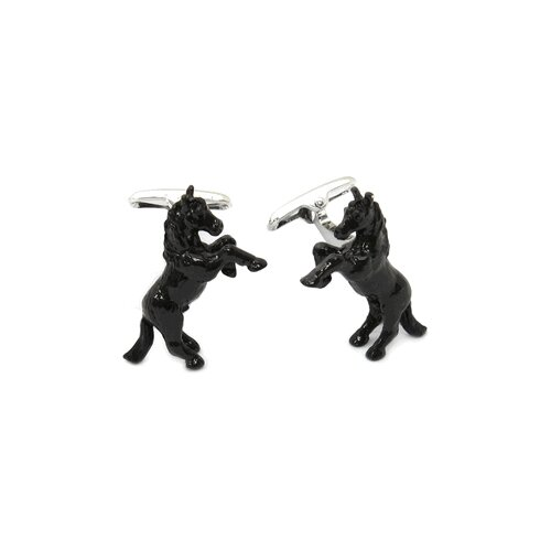 Bucking Bronco Cufflinks Hand Painted