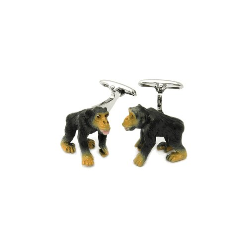 Monkey Cufflinks Hand Painted
