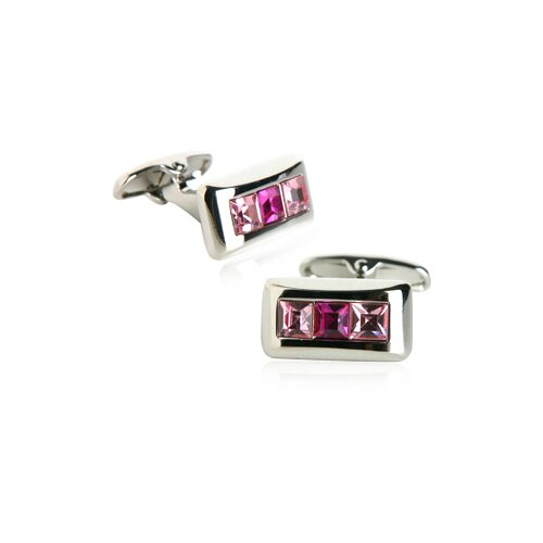 Austrian Crystal Cufflinks in Pink