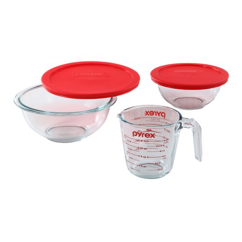 Pyrex Smart Essentials 5 Piece Mixing Bowl Set