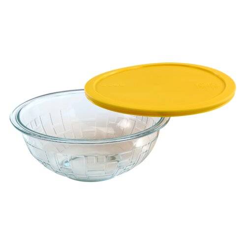 Textures Brick Mixing Bowl with Lid