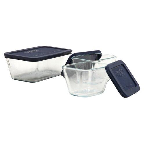 Storage Plus 3 Piece Rectangular Storage Dish Set