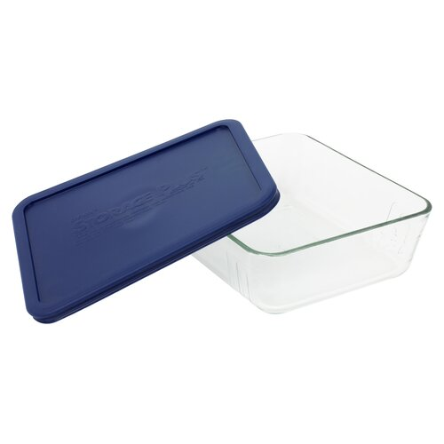 Storage 11-Cup Rectangular Dish with Plastic Cover