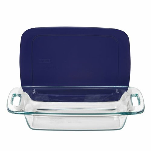 Easy Grab 2 Qt. Oblong Baking Dish with Plastic Cover