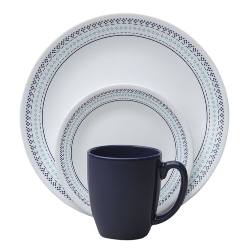 Livingware™ Folk Stitch 16 Piece Dinnerware Set
