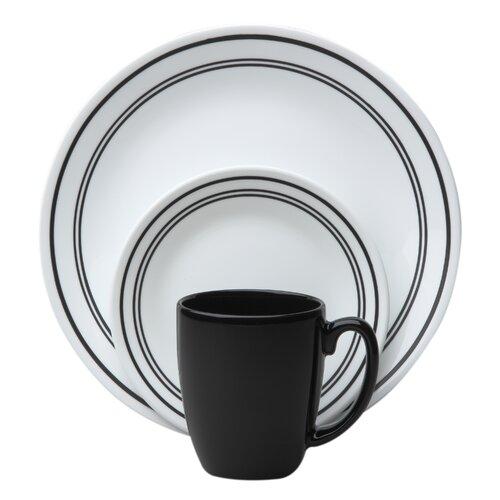 Corelle Livingware Classic Cafe 16 Piece Dinnerware Set