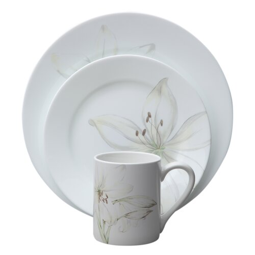 Corelle Impressions Flower 16 Piece Dinnerware Set