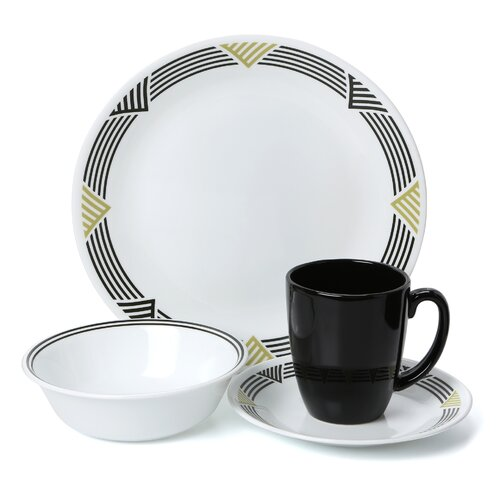 Corelle Livingware Global Stripes 16 Piece Dinnerware Set