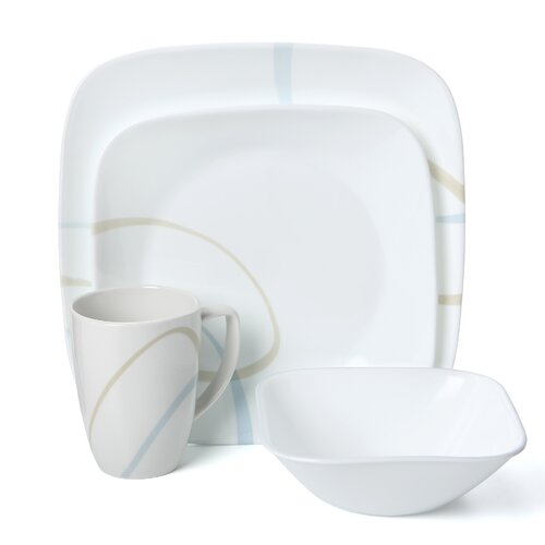 Square Sand and Sky 16 Piece Dinnerware Set
