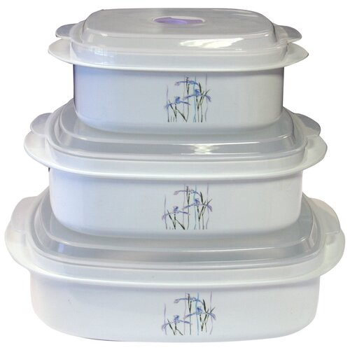 Coordinates Microwave Cookware and Storage Set with Shadow Iris Design