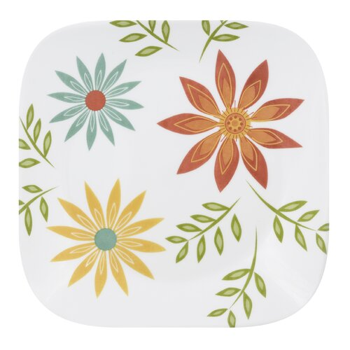 "Corelle Square 9"" Happy Days Plate"