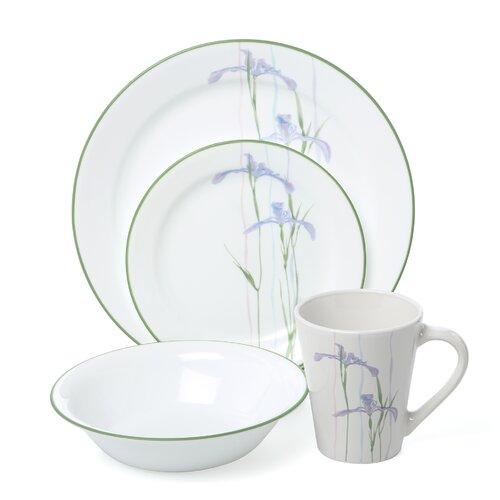 Impressions Shadow Iris 16 Piece Dinnerware Set