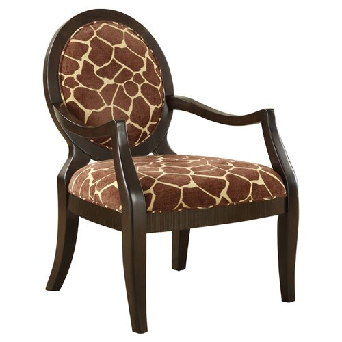 Williams Import Co Giraffe Distressed Fabric Arm Chair