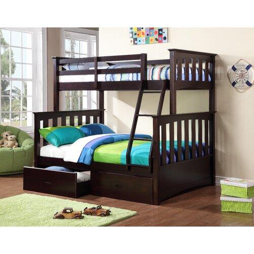 bunk loft beds wayfair. Black Bedroom Furniture Sets. Home Design Ideas